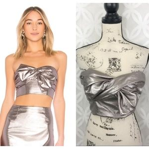 Lovers + Friends Rolla Top in Pewter NWT